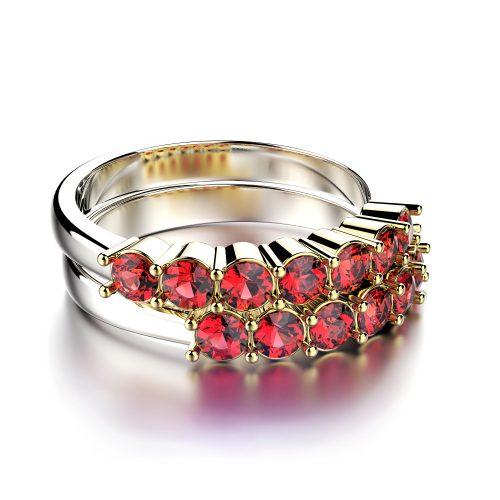 Padparadscha-prsten